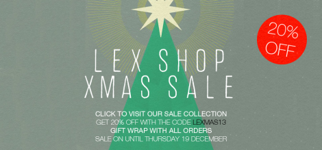 Lex Shop Xmas Banner 2013