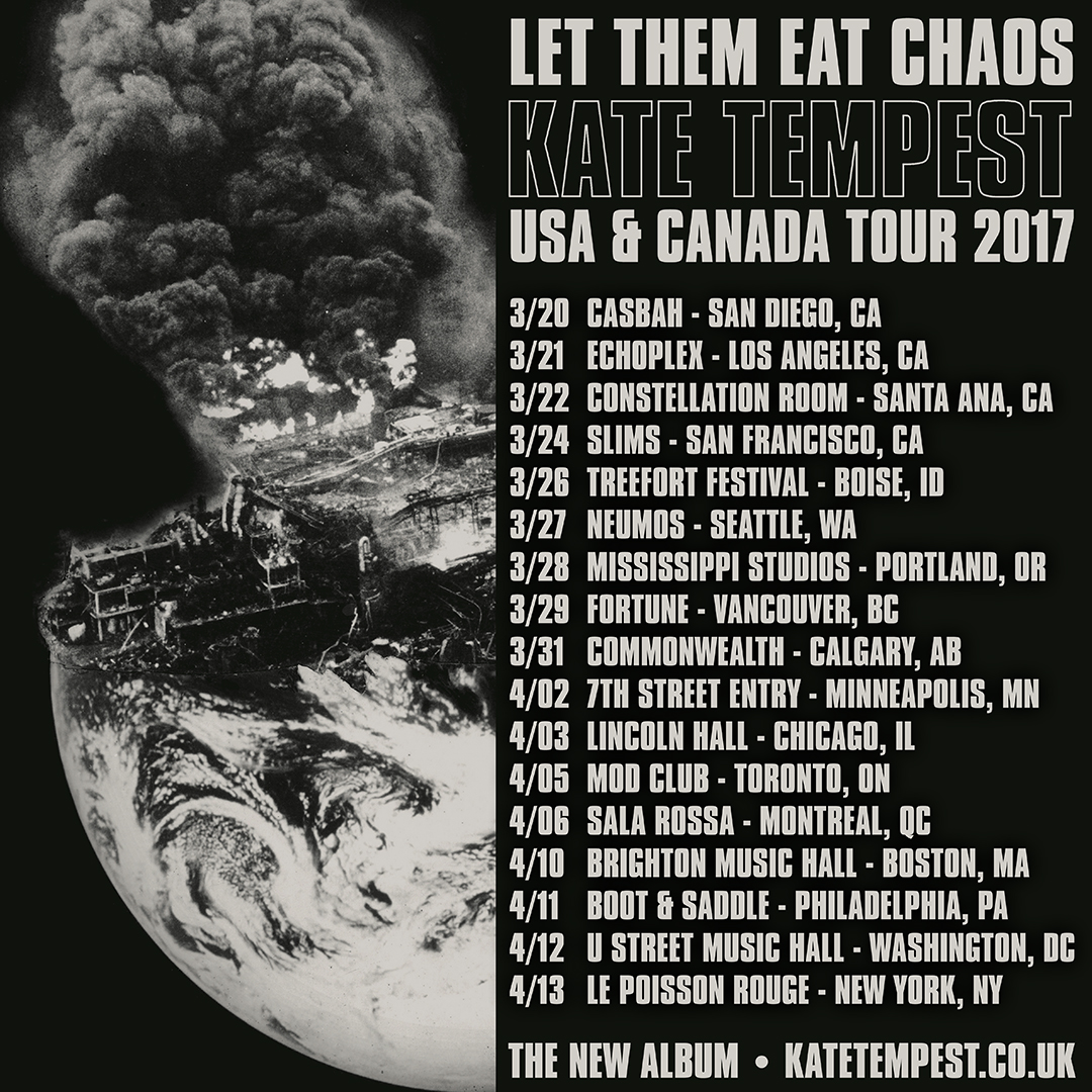 Kate Tempest Chaos US Tour