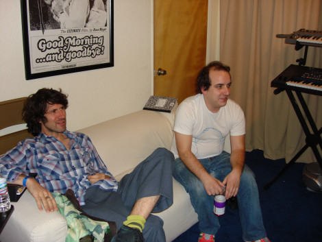 Gruff & Har Mar at Danger Mouse's studio, LA.